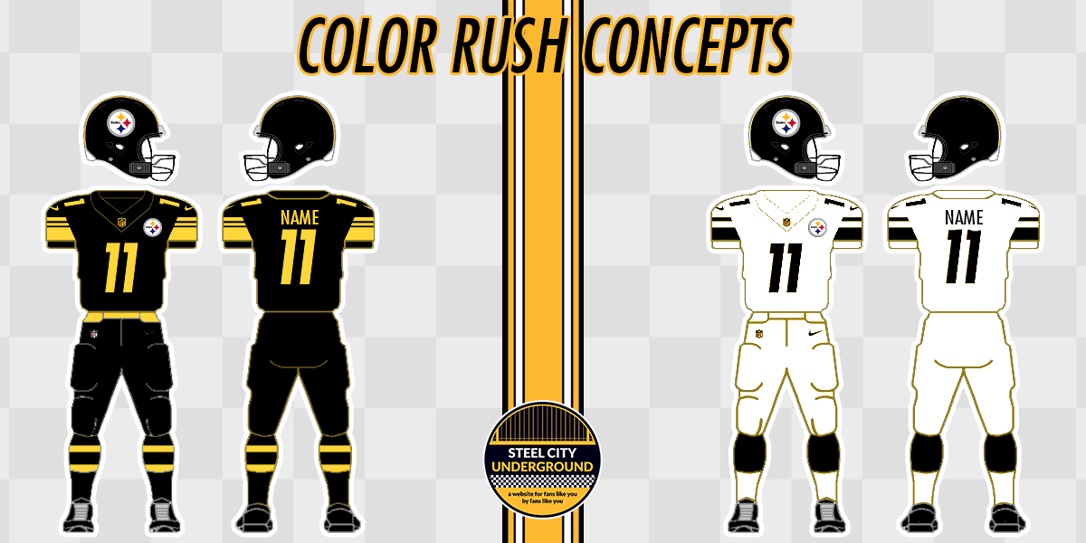 sneakers for cheap 81e99 f3876 Pittsburgh Steelers Color Rush Jersey Concepts | Steel City ...