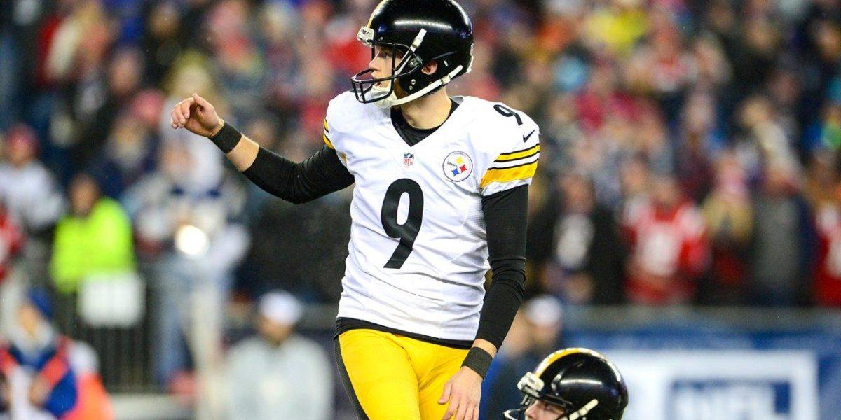 Chris Boswell kicks a Steelers field goal