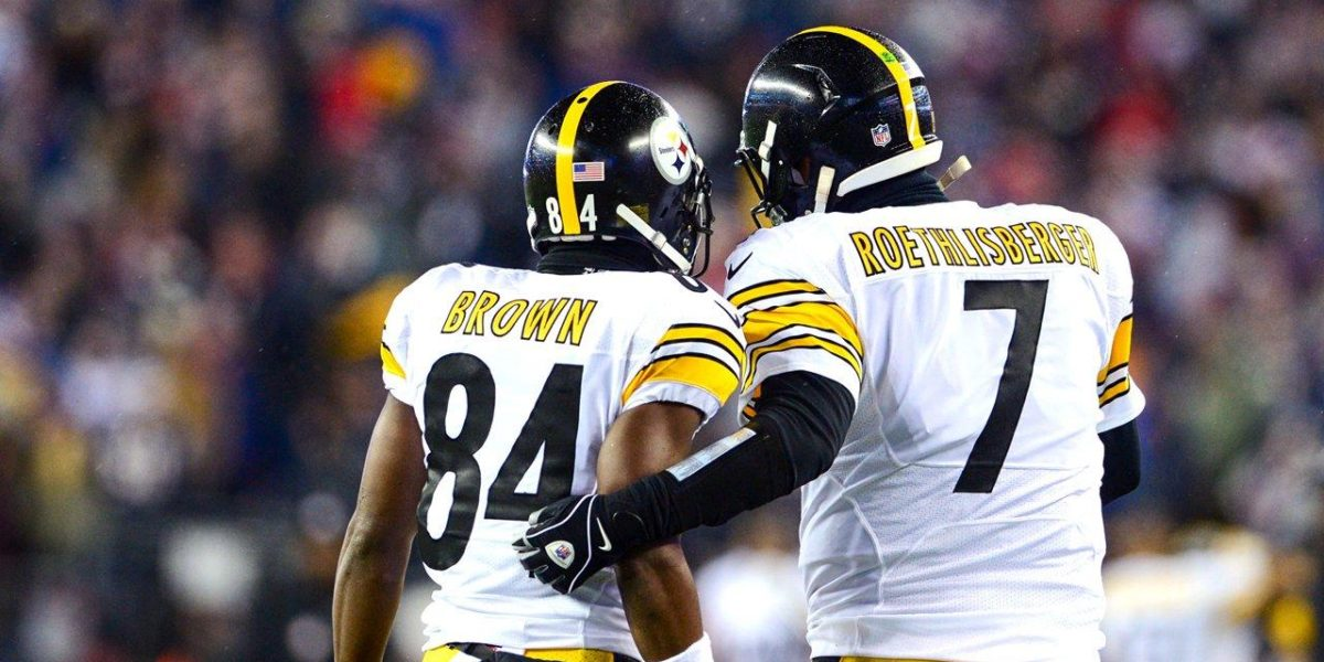 Antonio Brown and Ben Roethlisberger