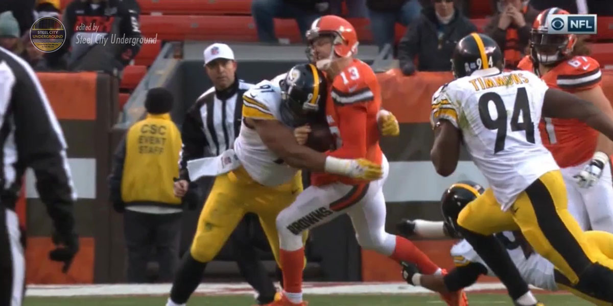 Steelers DE Stephon Tuitt kills Josh McCown