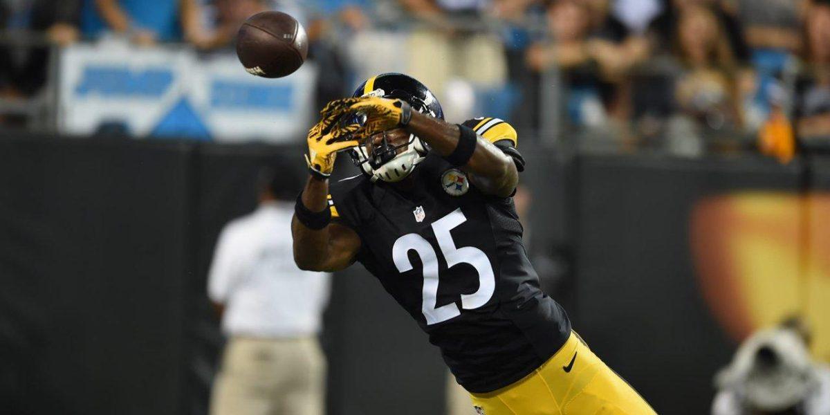 Steelers CB Artie Burns dives to break up a pass