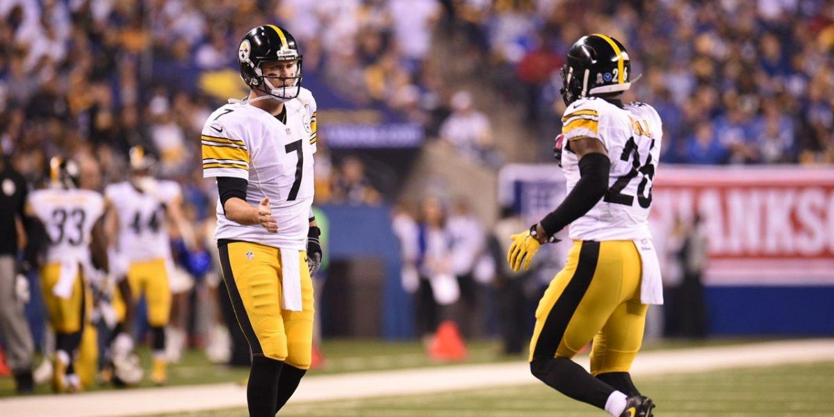 Steelers QB Ben Roethlisberger and RB Le'Veon Bell