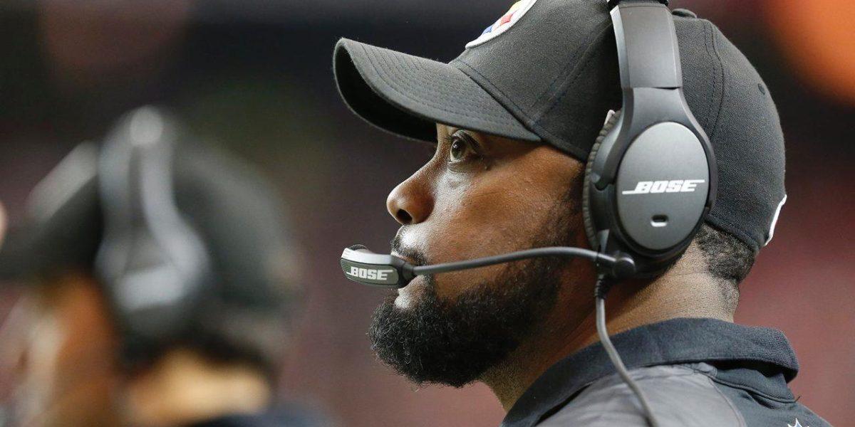 Steelers coach Mike Tomlin versus the Atlanta Falcons