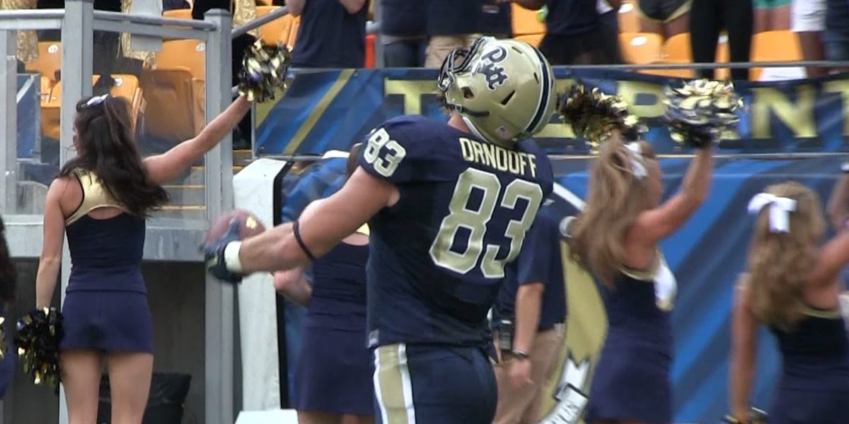 Pittsburgh Panthers tight end Scott Orndoff