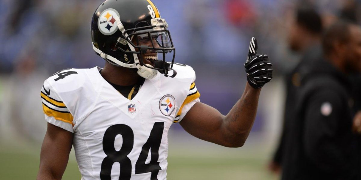 Pittsburgh Steelers WR Antonio Brown before an NFL game