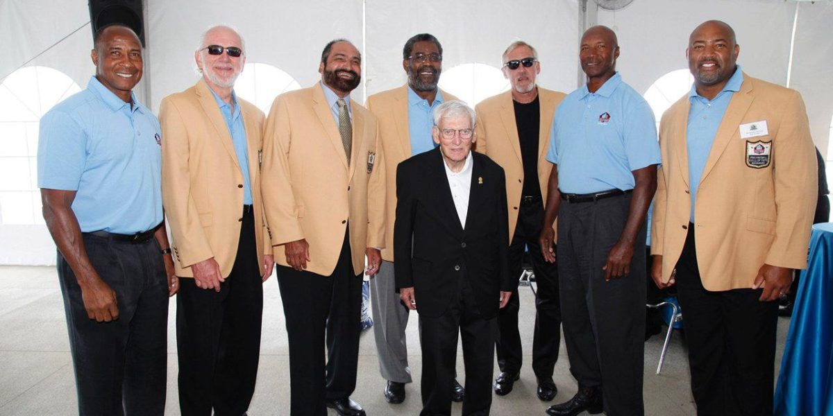 Dan Rooney with Pittsburgh Steelers Hall of Famers
