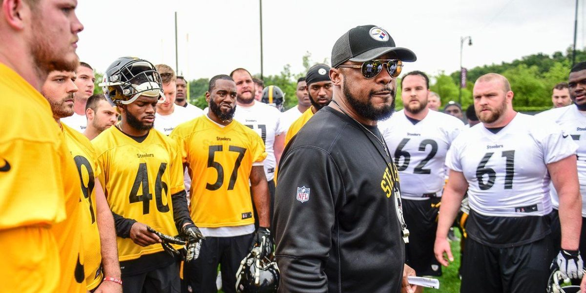 Pittsburgh Steelers with head coach Mike Tomlin