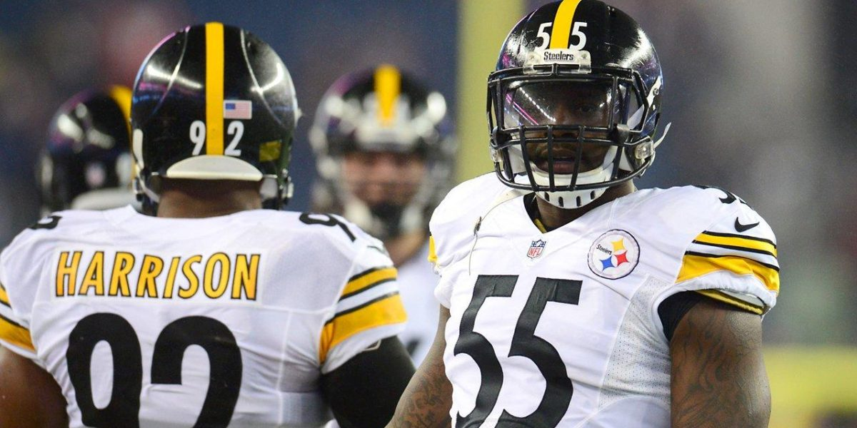Pittsburgh Steelers linebackers Arthur Moats and James Harrison