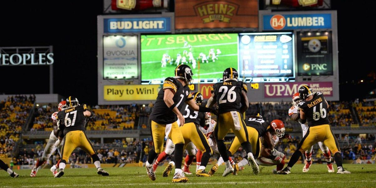 Pittsburgh Steelers offense against the Kansas City Chiefs