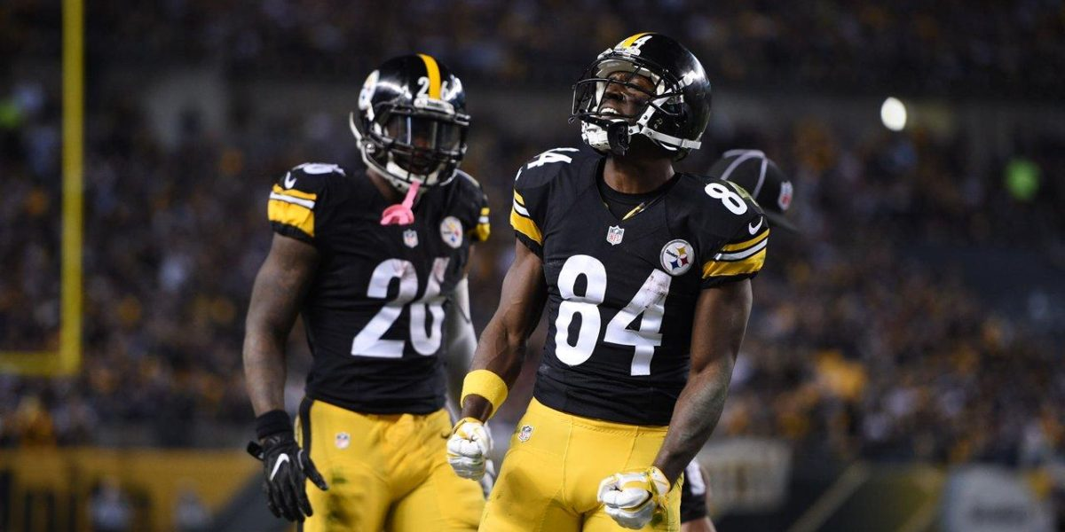 Pittsburgh Steelers Le'Veon Bell and Antonio Brown
