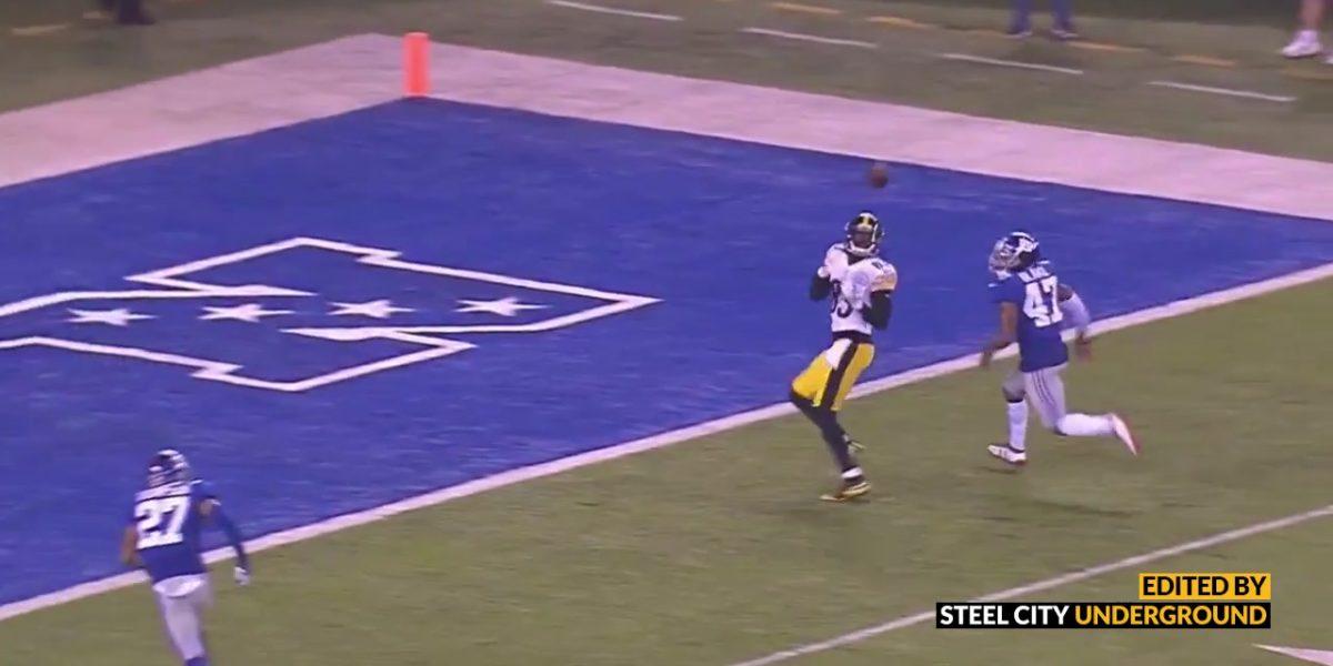 Steelers QB Josh Dobbs throws a touchdown pass to Cobi Hamilton