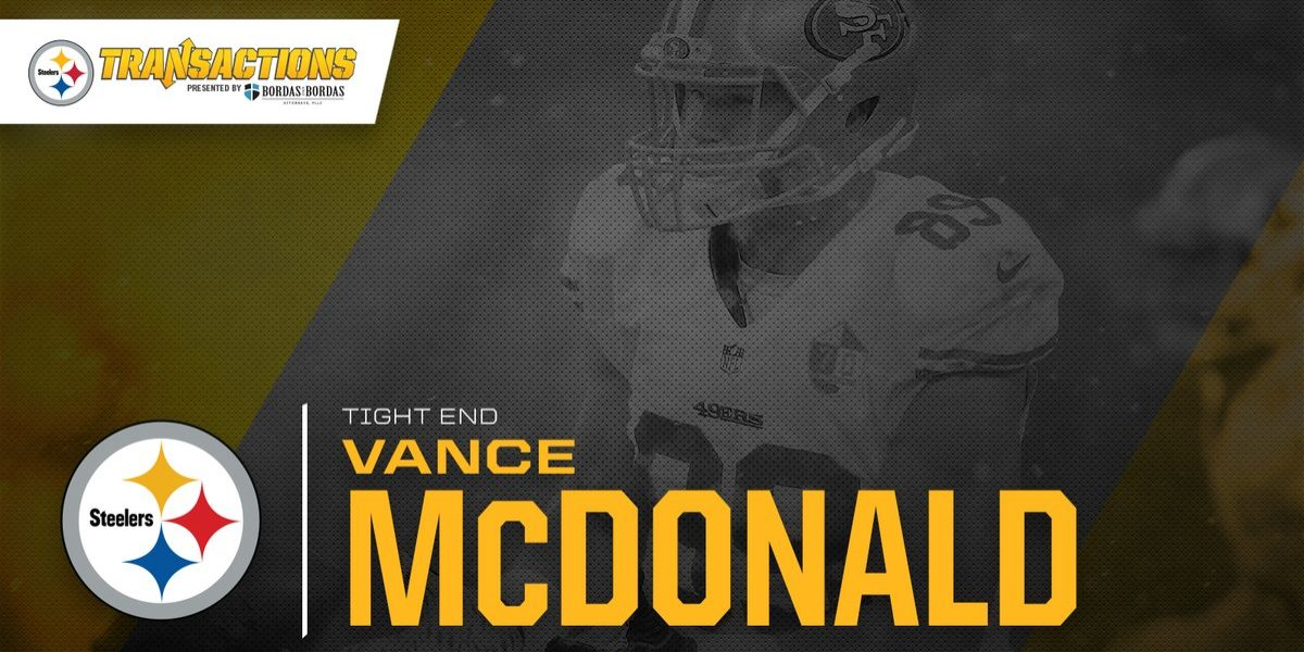 uk availability 0512e 361bc What Vance McDonald's arrival means for the Steelers | Steel ...