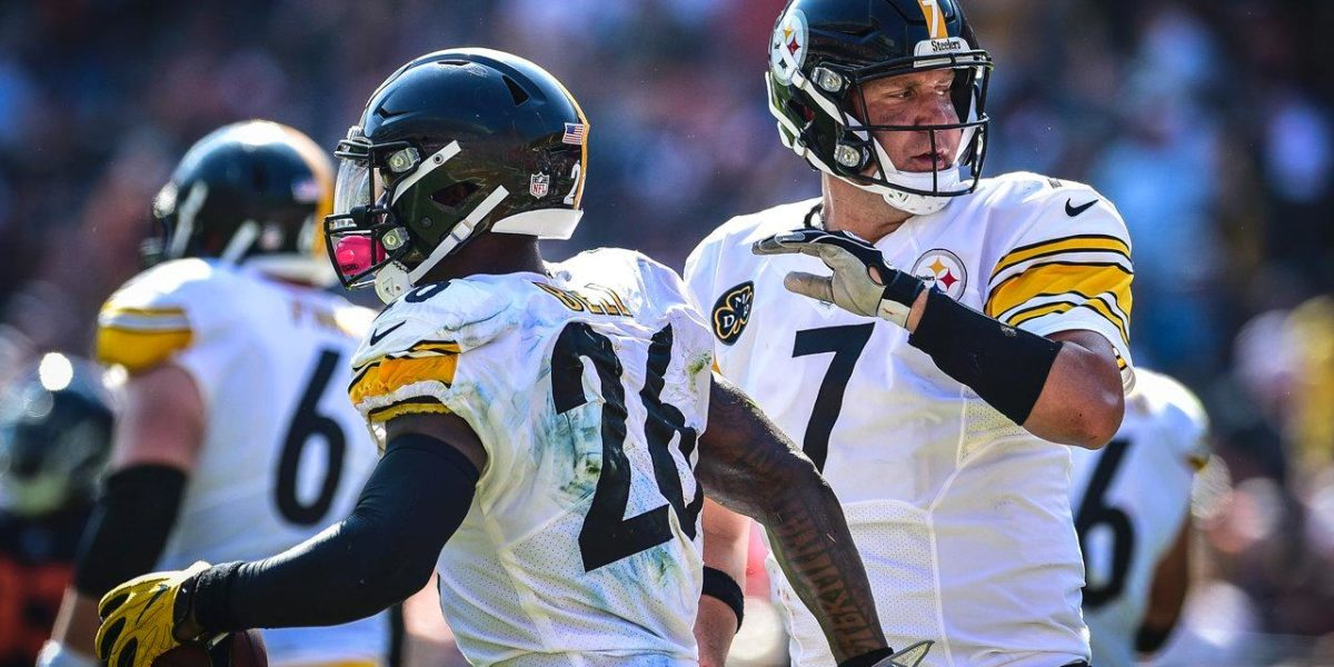 Pittsburgh Steelers QB Ben Roethlisberger and RB Le'Veon Bell