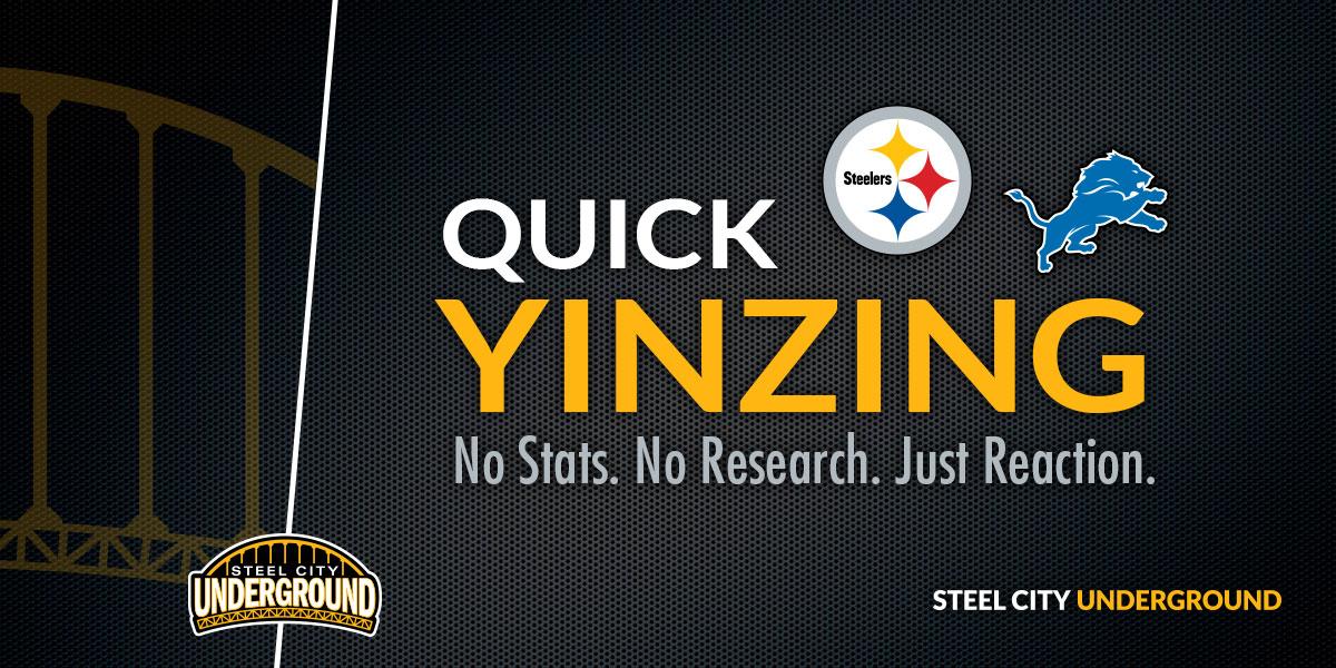 Pittsburgh Steelers Quick Yinzing