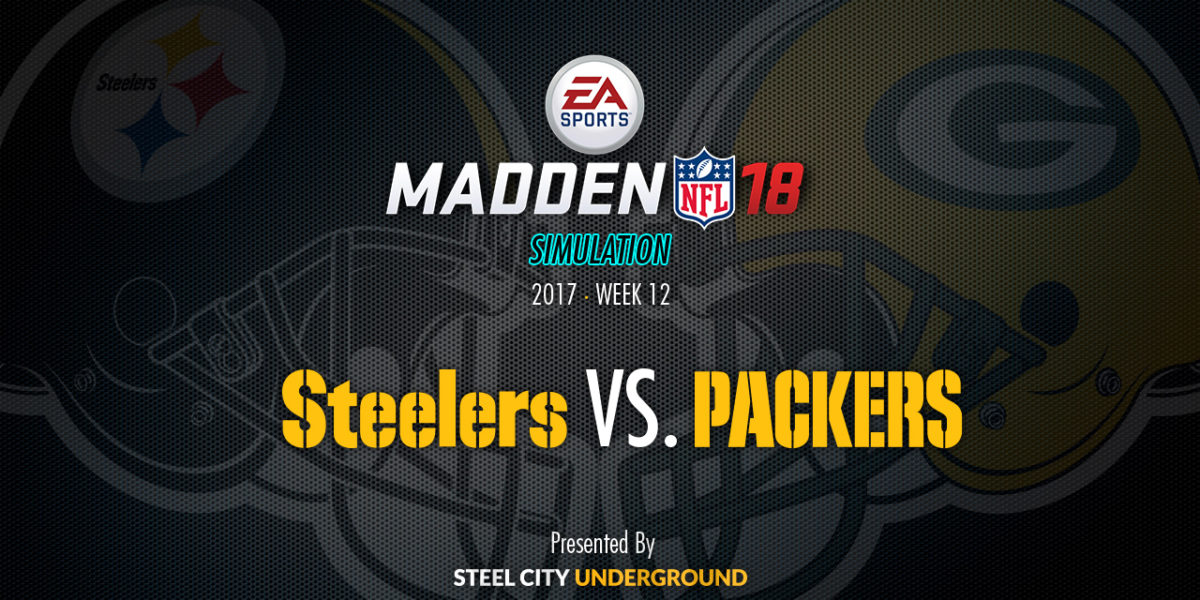 Steelers vs Packers Madden Sim
