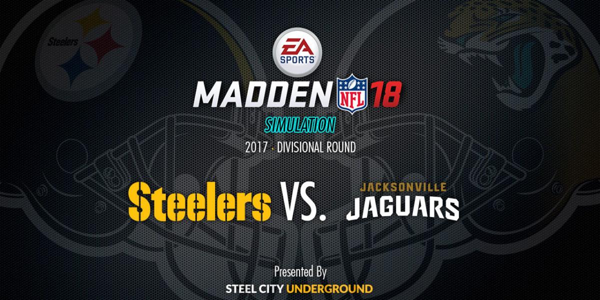 Steelers Jaguars Madden sim