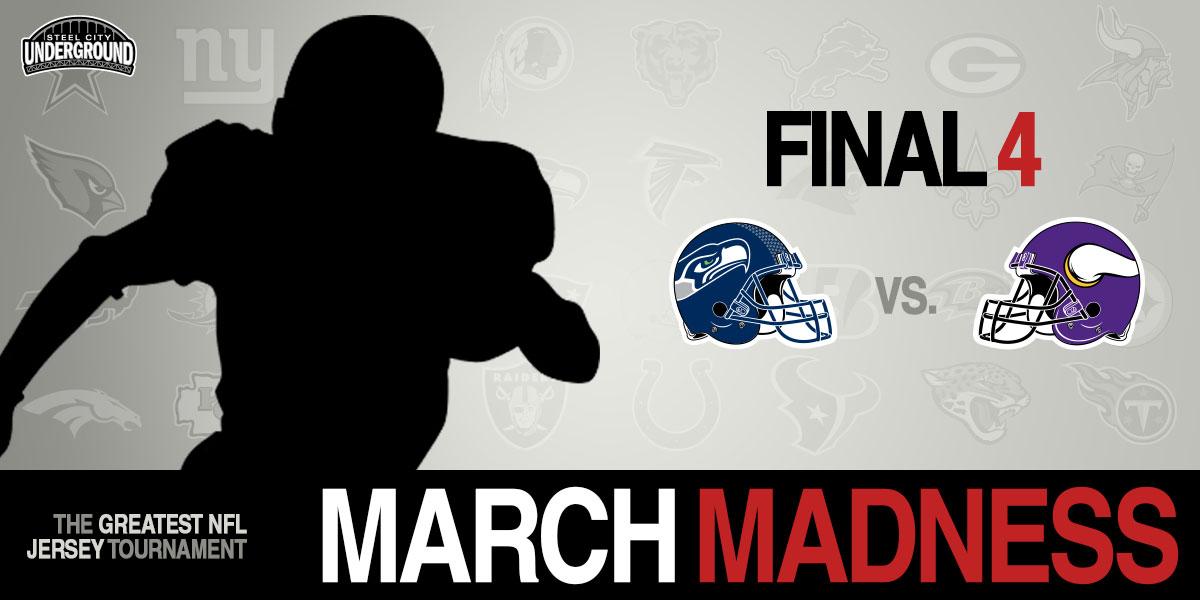db18357d3 SCU's Best NFL Jersey Tournament Final 4: Seahawks vs. Vikings. SCU March  Madness tournament