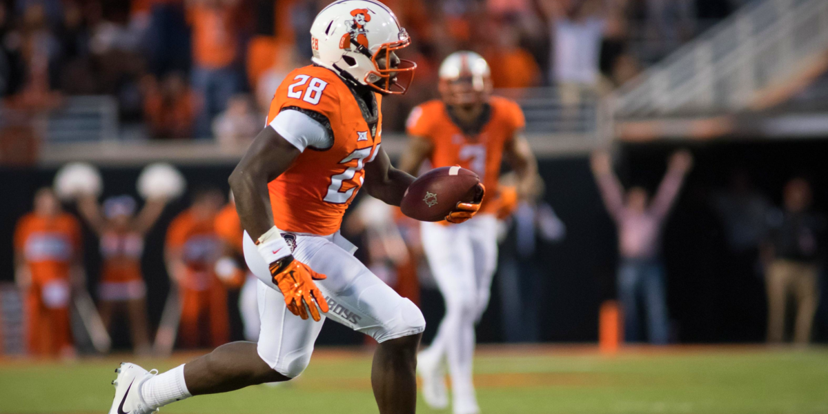 Oklahoma State wide receiver James Washington (AP Images)