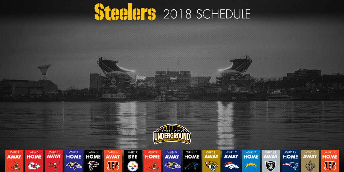 The Good Bad And Ugly Of The Steelers 2018 Schedule Steel City