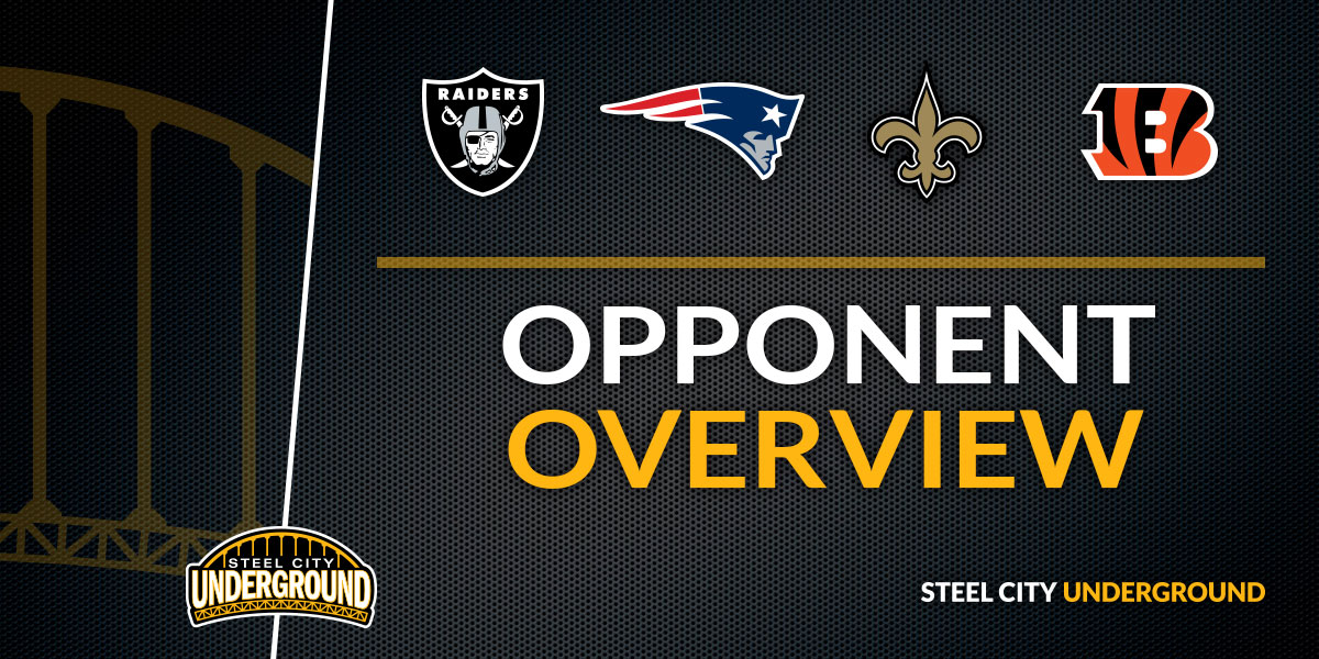 The Steelers 2018 schedule in quarters