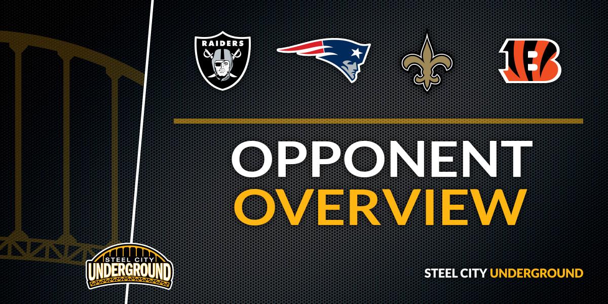 The Steelers 2018 schedule in quarters