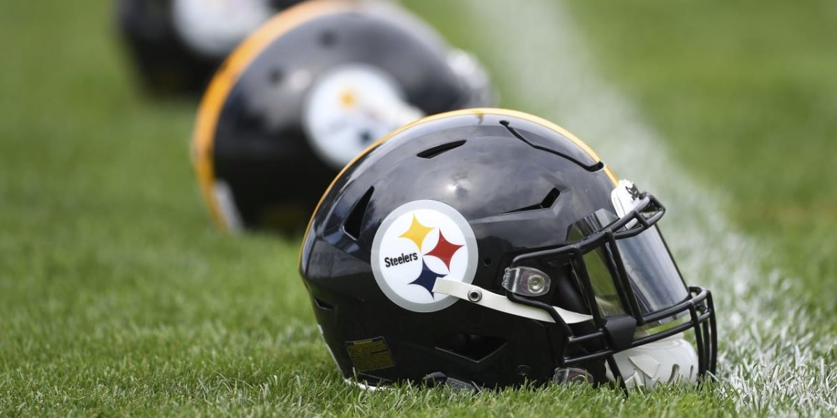 Pittsburgh Steelers helmets