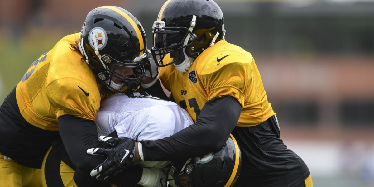 Pittsburgh Steelers linebackers at training camp