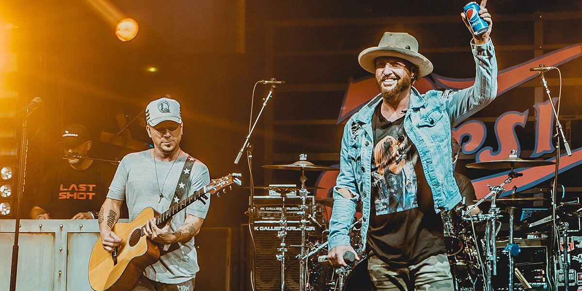 Chris Lucas and Preston Brust of LOCASH perform at 2018 NFL Kickoff Eve Presented by Pepsi