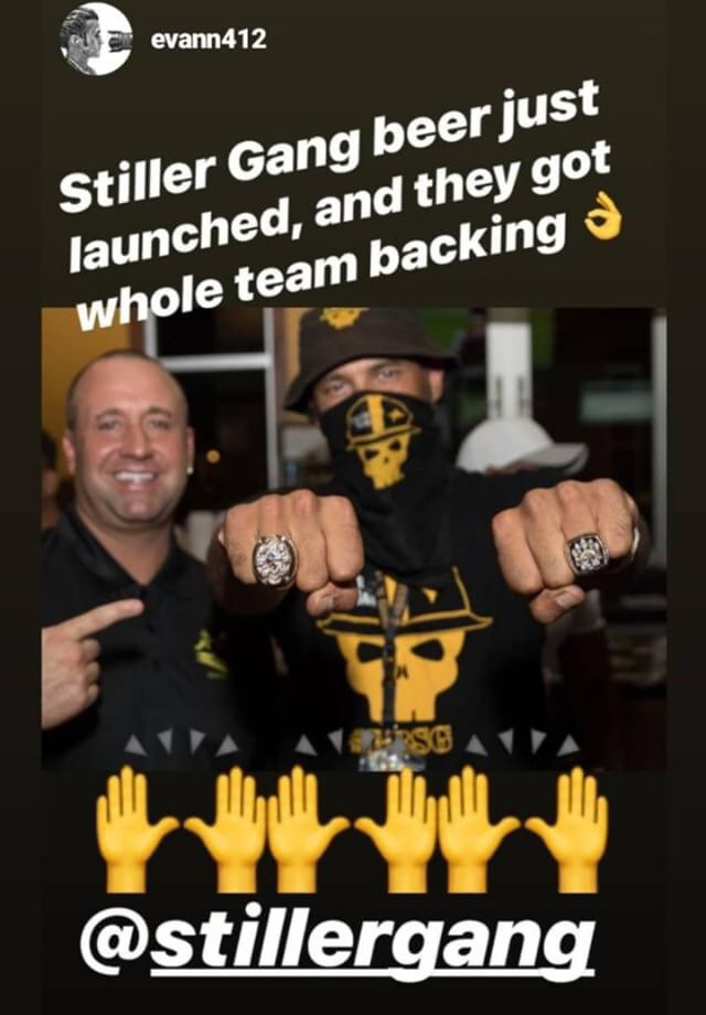 Former Steelers kicker Jeff Reed at the Stiller Gang beer release party