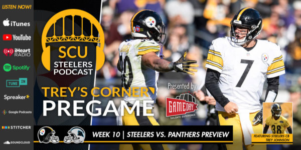813e28274 Trey s Corner  Steelers host the Carolina Panthers for Thursday Night  Football. Pittsburgh ...