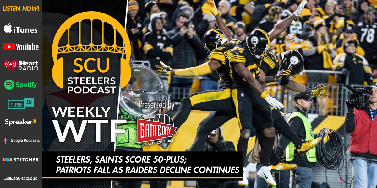 Weekly WTF: Steelers, Saints score 50-plus; Patriots fall as Raiders decline continues