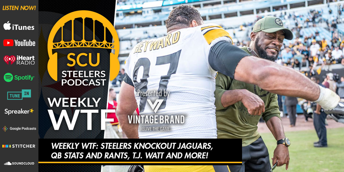 Steelers knockout Jaguars, QB stats and rants, T.J. Watt and more!