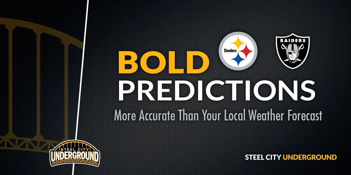 Steelers vs. Raiders Bold Predictions