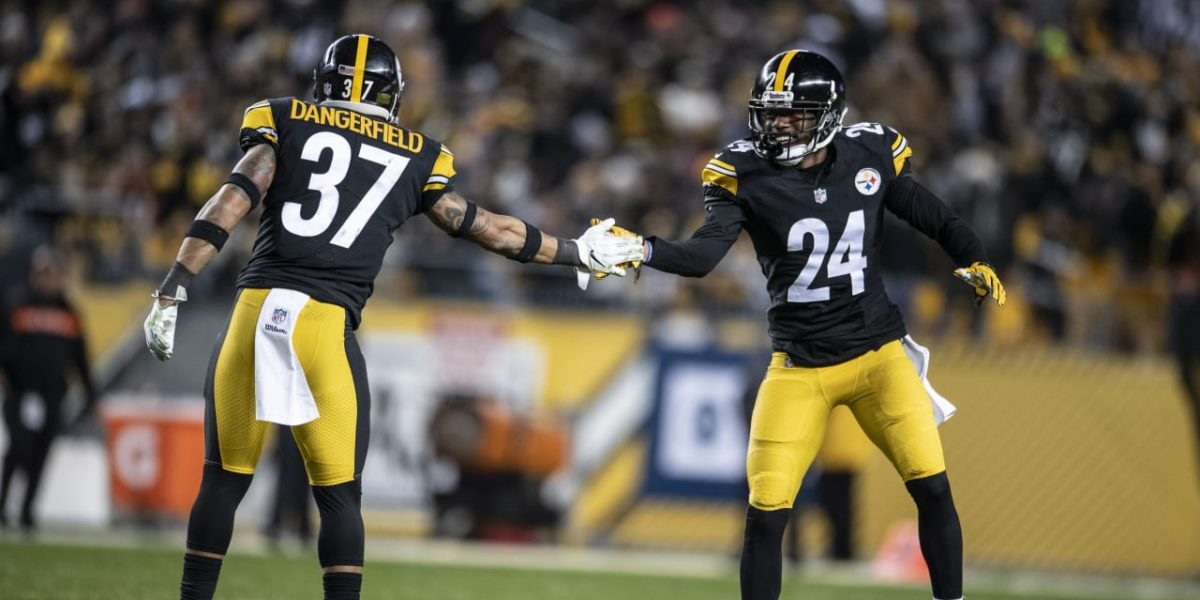 Pittsburgh Steelers DBs Coty Sensabaugh and Jordan Dangerfield