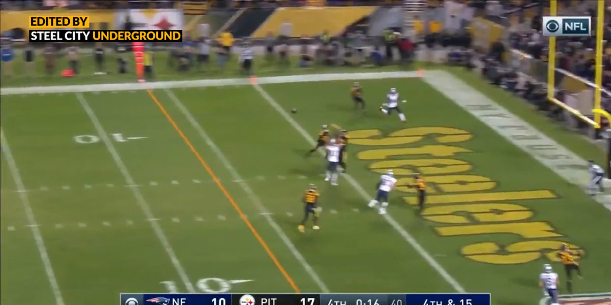 Morgan Burnett denies Tom Brady comeback on 4th and 15 to seal Steelers victory