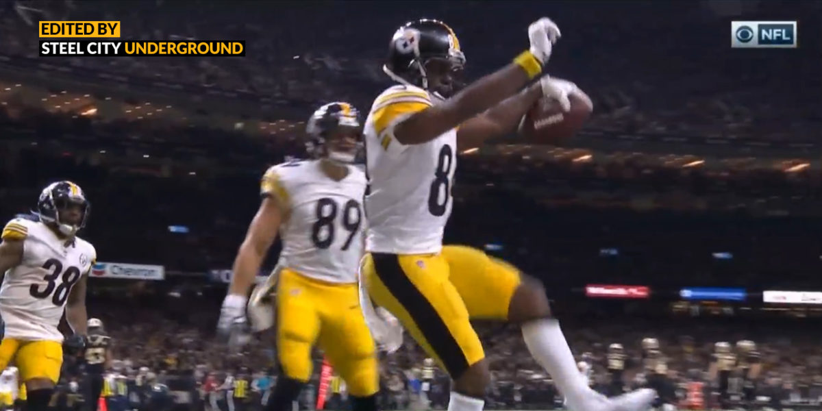 Watch: Antonio Brown's touchdown gives the Steelers the lead over the Saints