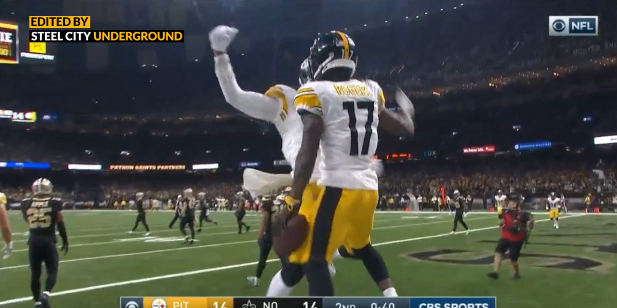 Watch: Eli Rogers knots the score before halftime