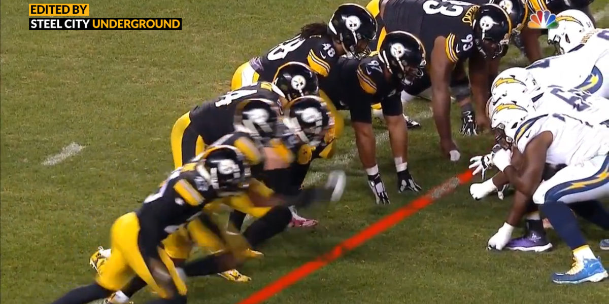Steelers called for offsides during Chargers field goal attempt