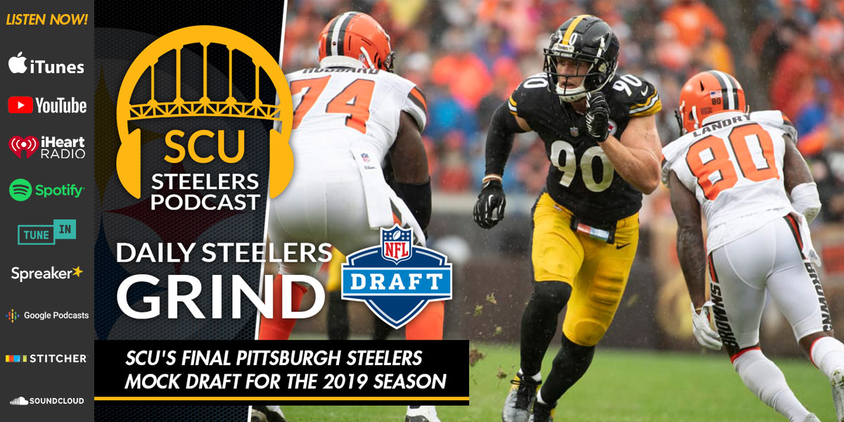 3c4b74401 SCU's final Pittsburgh Steelers mock draft for the 2019 season ...