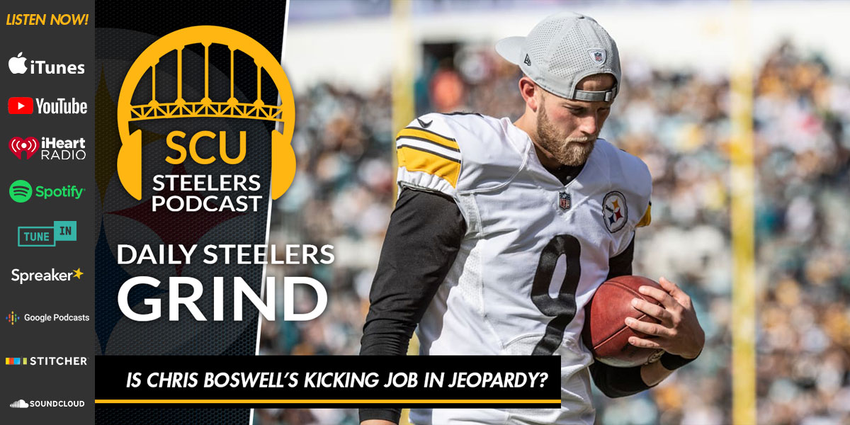 Is Chris Boswell's kicking job in jeopardy?