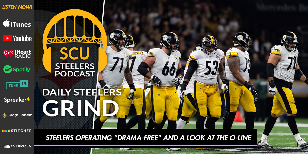 """Steelers operating """"drama-free"""" and a look at the O-Line"""