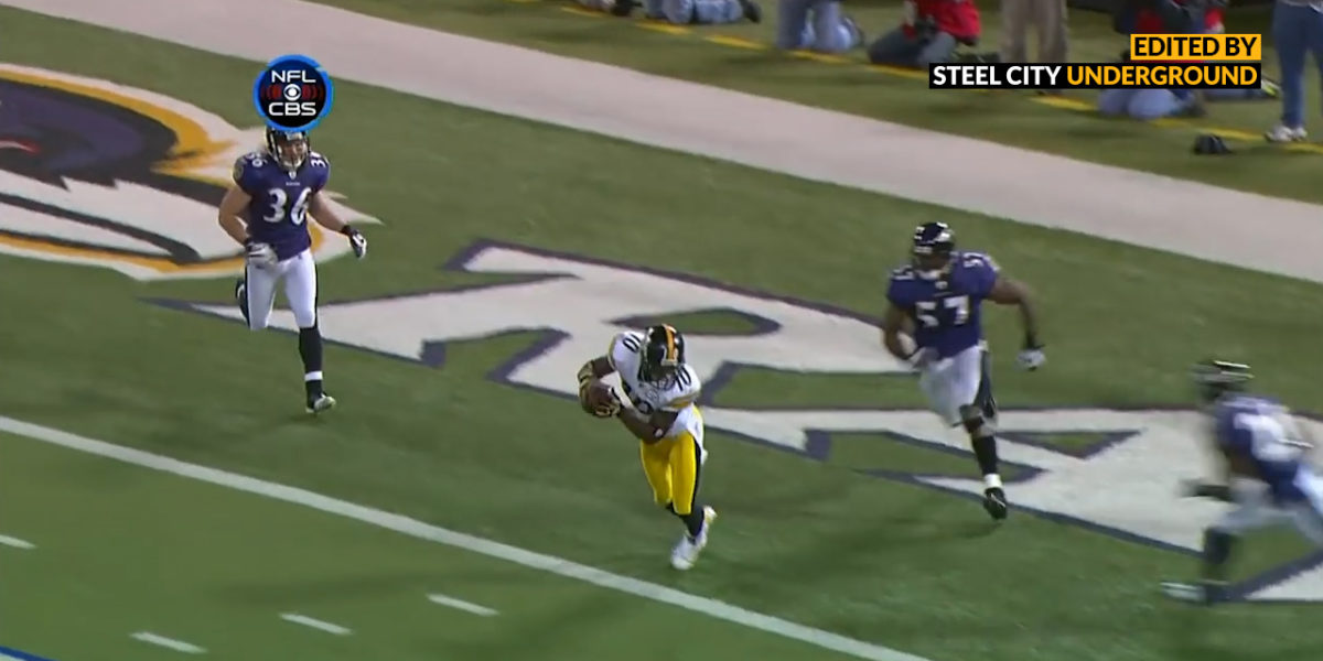 Santonio Holmes game-winning touchdown against Ravens