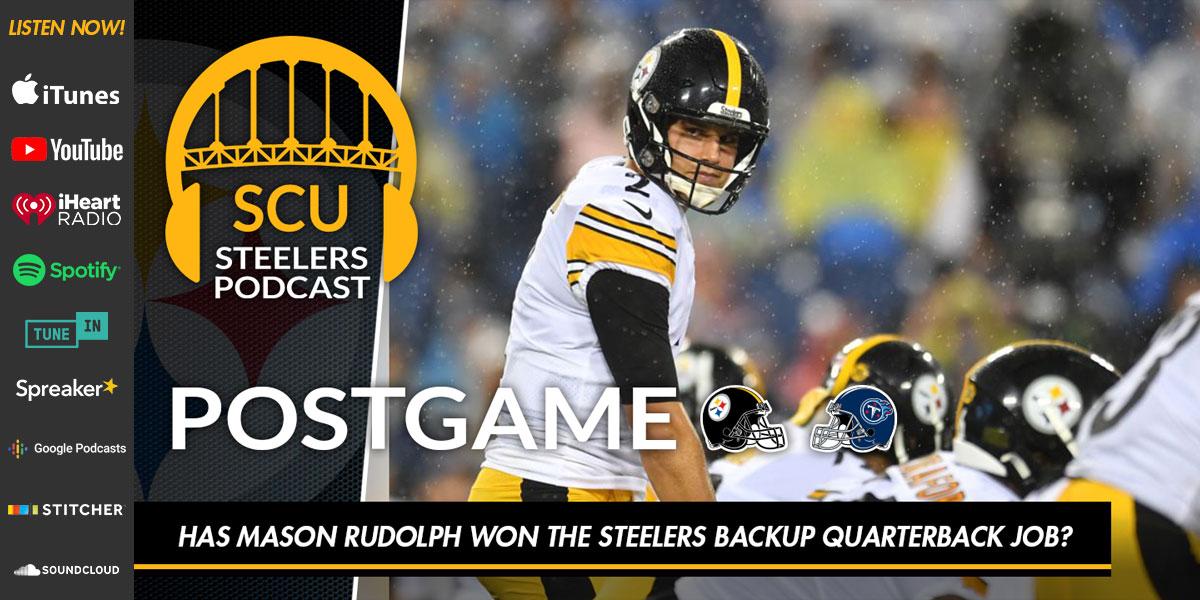 Has Mason Rudolph won the Steelers backup quarterback job?