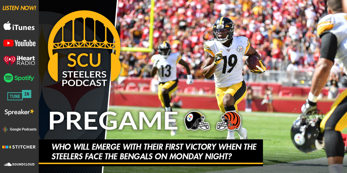 Who will emerge with their first victory when the Steelers face the Bengals on Monday night?