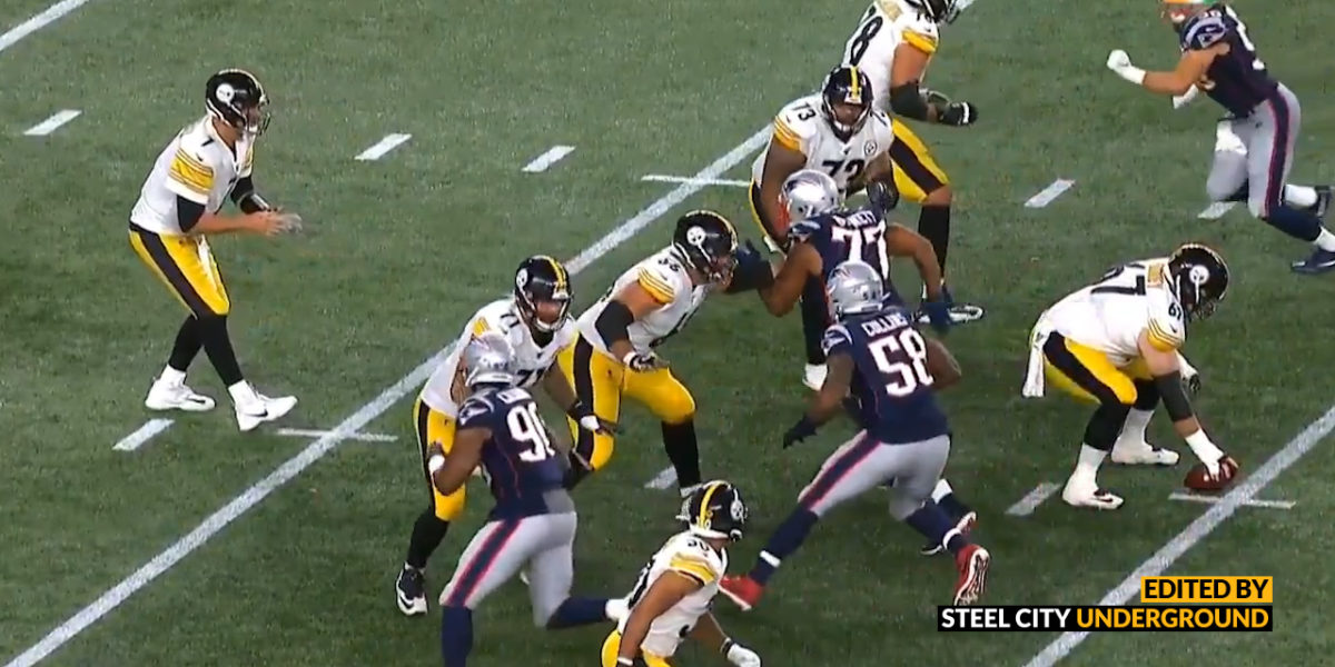 "Watch: Steelers penalty called on ""all linemen except center"""