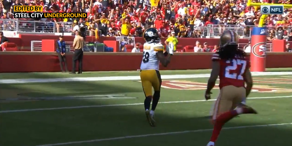 Diontae Johnson's first career NFL touchdown