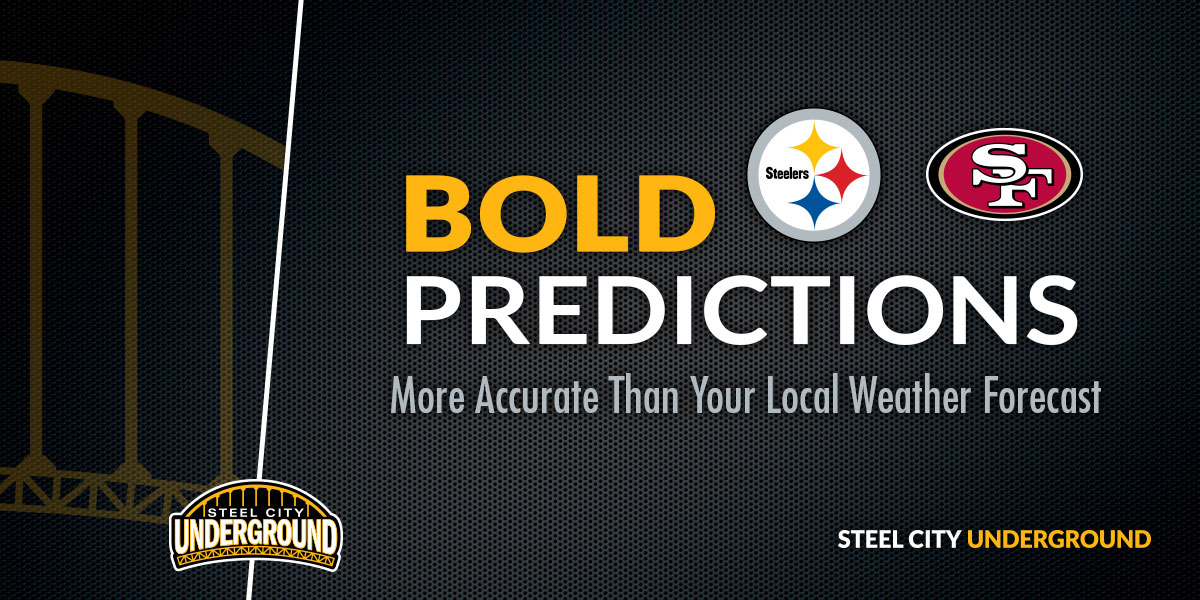 Pittsburgh Steelers San Francisco 49ers Bold Predictions
