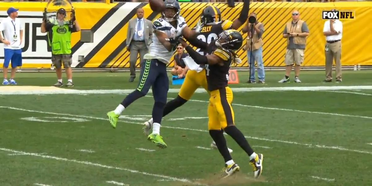 Terrell Edmunds pass interference call against Seahawks