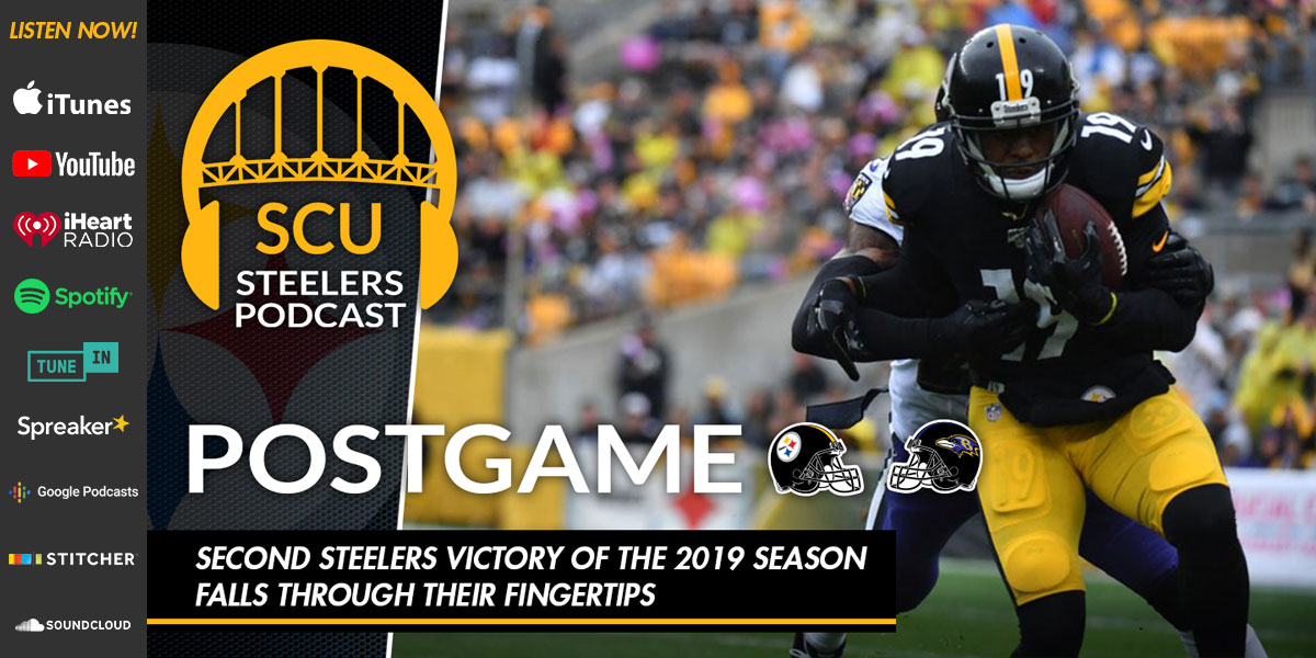 Second Steelers victory of the 2019 season falls through their fingertips