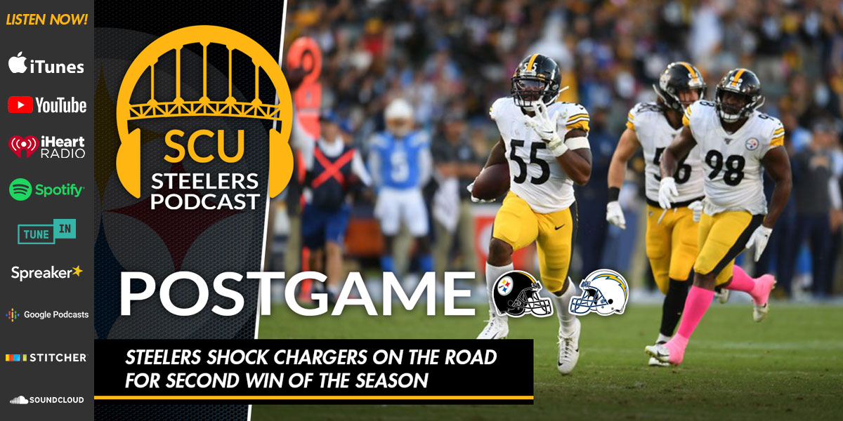 Steelers shock Chargers on the road for second win of the season